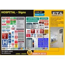 ETA Diorama - 227 - Zombie Modern - 1/35 - Hospital Signs