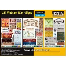 ETA Diorama - 426 - Vietnam War 1965-1973 - 1/35 - U.S. Vietnam War - Signs
