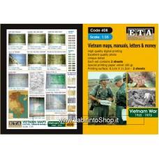 ETA Diorama - 408 - Vietnam War 1965-1973 - 1/35 - Vietnam Maps Manual Letters Money