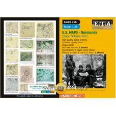 ETA Diorama - 405 - WWII - 1/35 - U.S. Maps - Normandy