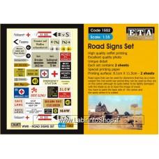 ETA Diorama - 1502 - WWII - 1/35 - Road Signs Set