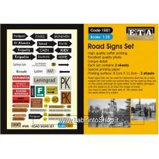 ETA Diorama - 1501 - WWII - 1/35 - Road Signs Set