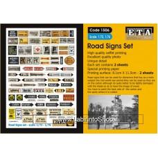 ETA Diorama - 1506 - WWII - 1/72 - Road Signs Set