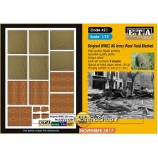 ETA Diorama - 421 - WWII - 1/72 - Original WWII Army Wool Pield Blanket