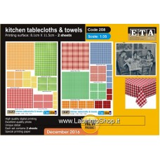 ETA Diorama - 208 - For All Season - 1/35 - Kitchen Tablecloth and Towels