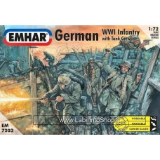 Emhar EM 7203 - 1/72 - German WWI Infantry with Tank Crew