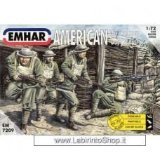 Emhar EM 7209 - 1/72 - American WWI Infantry Doughboys