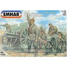 Emhar EM 7204 - 1/72 - German WWI Arillery with 96 n/A77 mm Gun