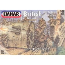 Emhar EM 7202 - 1/72 - British WWI Arillery with 18 PDR Gun