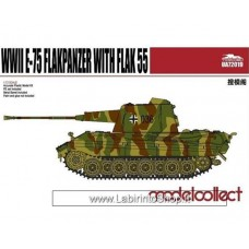 Modelcollect Germany WWII Germany E-75 Flakpanzer With Flak 55 1/72
