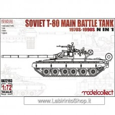 Modelcollect Soviet Army T-80B/B Early type/BV/BVD Main battle tank 1/72