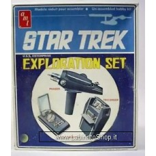 AMT Star Trek Exploration Set model props: Phaser Communicator, Tricorder