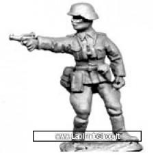 Dixon Minitures - 1/72 - WWII - GEM40 - Officer standing firing pistol