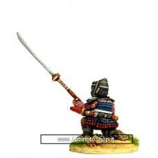 Dixon Minitures - Samurai Wars - KS12 - Ashigaru kneeling - naginata