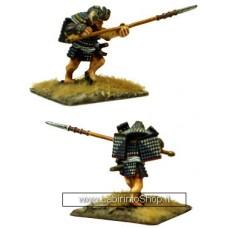 Dixon Minitures - Samurai Wars - 25-13a - Samurai charging with Yari