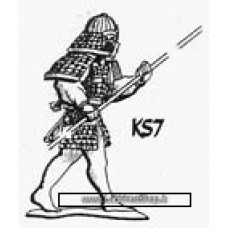 Dixon Minitures - Samurai Wars - KS07 - Samurai advancing - naginata