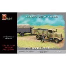 Pegasus Hobbies 1/72 Scale German Army Trucks (Includes 2 Tanks)