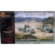 Pegasus Hobbies 1/72 Scale US Army Trucks (Includes 2 Tanks)