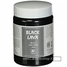 Vallejo Acrylic Paints 200ml Bottle 26.214 Black Lava