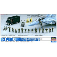 U.S.Pilot / Ground Crew Set (Plastic model)