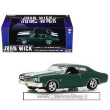 Greeenlight 1970 Chevrolet Chevelle SS 396 Green with White Stripes - John Wick 1/43