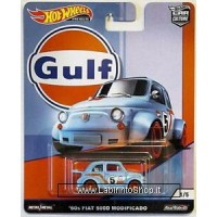 Hot Wheels '60s Fiat 500D Modificado (2019 Hot Wheels Premium - Car Culture) GULF series #1