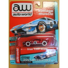 Autoworld Vintage Muscle 1965 Ford GT40 Red and White Premium Series 1/64