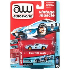 Autoworld Vintage Muscle 1965 Ford GT40 Premium Series 1/64
