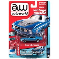 Autoworld Vintage Muscle 1972 Ford Mustand Mach 1 Premium Series 1/64