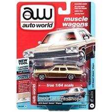 Autoworld Vintage Muscle 1975 Buick Estate Wagon Beige Premium Series 1/64