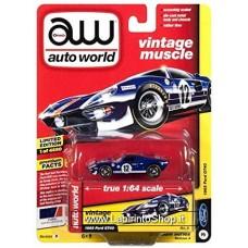 Autoworld Vintage Muscle 1965 Ford GT40 Blue Premium Series 1/64