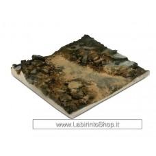 Vallejo - Diorama Bases - Rubble Street Section - 1/35 - 14x14 cm Non Dipinto