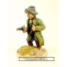 Dixon Miniatures - Old West - Man gut-shot still firing from hip