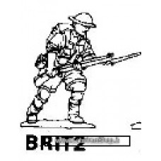Dixon Minitures - Desert Rats - 1/72 - Infantry advancing - fixed bayonet