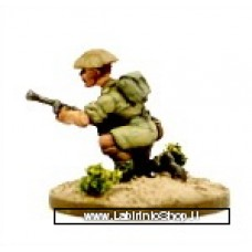 Dixon Minitures - Desert Rats - 1/72 - Infantry crouching with bren-gun