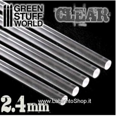 Green Stuff World Acrylic Rods - Round 2.4 mm CLEAR