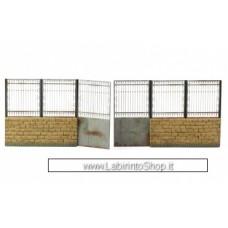 Matho Models 35087 Metal Fence B - big set with gate