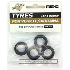 Meng Sps-001 1/35 Tyres for Vehicle/diorama 4 pcs