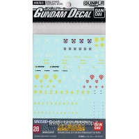 Gundam Decal for (HGUC) Zeon 1 (Gundam Model Kits)