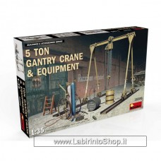 Miniart 35589 - 5 Ton Gantry Crane and Equipment 1/35
