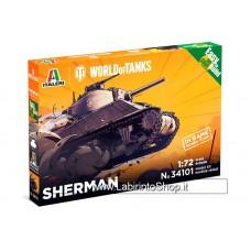 Italeri - 34101 Sherman Easy To Built 1/72