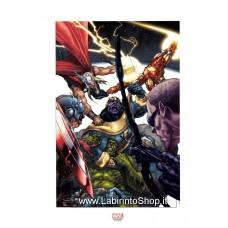 Simone Bianchi - Thanos vs Avengers - Litografia