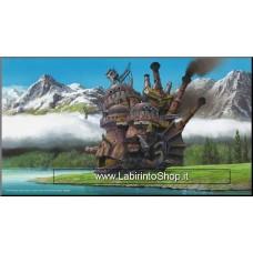Castello Errante di Howl's Moving Castle Wood Panel Quadro su legno 37X20CM
