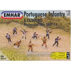 Emhar EM 7217 - 1/72 - Peninsular War 1807-14 Portuguese Infantry and Cazadores