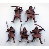 Samurai 54 mm 1/32 - 5 Figures Battles Russian Toy Soldiers