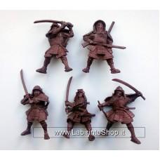 Samurai 54 mm 1/32 - 5 Figures Battles Russian Toy Soldiers