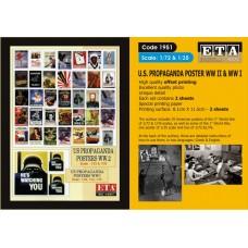 ETA Diorama - 1951 - 1/32 1/72 1/87 - WW2 U.S. Propaganda Posters