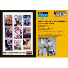 ETA Diorama - 1943 - 1/35 - Stickers WWII Propaganda Posters