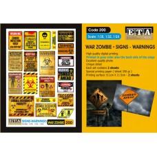 ETA Diorama - 200 - 1/35 - War Zombies Signs Warnings