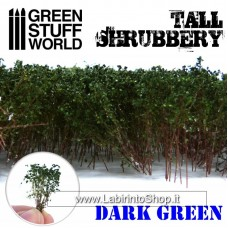 Green Stuff World Tall Shrubbery - Dark Green